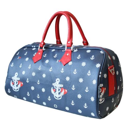 Сумка женская Antan, цвет: синий, красный. 2-1322-132Стильная женская сумка Antan выполнена из искусственной кожи синего цвета и оформлена принтом в морском стиле. Сумка имеет одно вместительное отделение, которое закрывается на застежку-молнию с двумя бегунками. Внутри - вшитый карман на молнии. Сумка оснащена уплотненным дном, двумя удобными ручками красного цвета и отстегивающимся плечевым ремнем регулируемой длины. Фурнитура - серебристого цвета. Такая сумка прекрасно подойдет как для повседневной жизни, так и для путешествий. Вместительная и функциональная, она не только поможет вам уместить все необходимые вещи, но и станет стильным аксессуаром, который идеально дополнит ваш неповторимый образ.