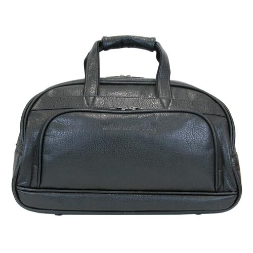 Сумка дорожная Antan, цвет: черный. 2-1844620010746659Стильная дорожная сумка Antan выполнена из искусственной кожи черного цвета. Сумка имеет одно основное отделение, которое закрывается на застежку-молнию с двумя бегунками. Внутри содержится два открытых сетчатых кармашка. С передней и задней стороны расположено два вшитых отделения на молнии. Сумка оснащена уплотненным дном, двумя удобными ручками и отстегивающимся плечевым ремнем регулируемой длины. На дне - 5 пластиковых ножек. Фурнитура - серебристого цвета. Функциональная и вместительная, такая сумка поможет не только уместить все необходимые вещи, но и станет модным аксессуаром, который идеально дополнит ваш образ.