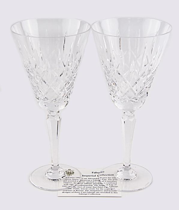 Комплект из 2 бокалов Д Арсей. Хрусталь, гранение, House of Faberge. Конец XX века