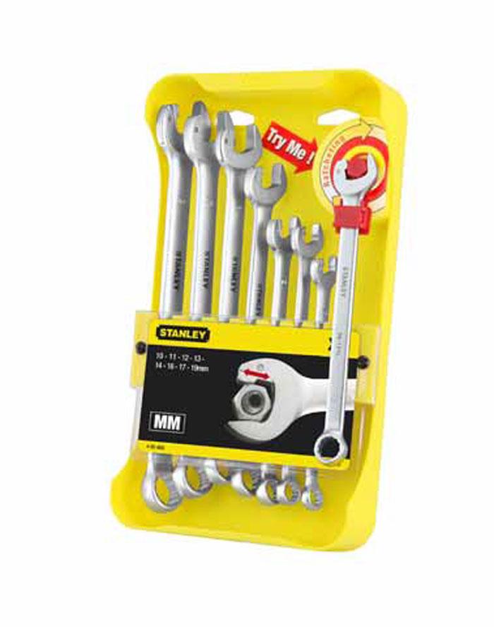 """Набор комбинированных гаечных ключей Stanley """"Ratcheting Wrench"""", 8 шт 4-95-660"""