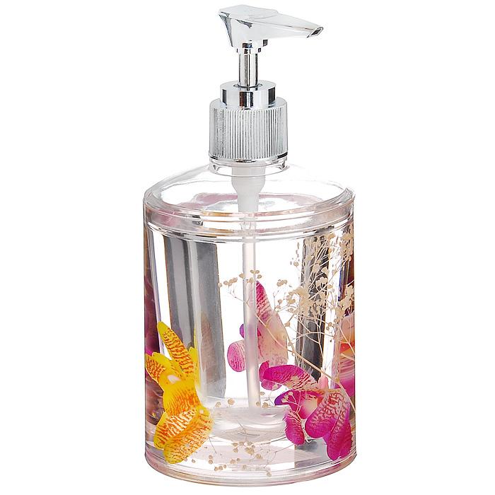 Дозатор для жидкого мыла Орхидея337-03Дозатор для жидкого мыла Орхидея, изготовленный из прозрачного пластика, отлично подойдет для вашей ванной комнаты. Дозатор имеет двойные стенки, между которыми находится прозрачный нетоксичный гелевый наполнитель с цветками орхидей. Такой аксессуар очень удобен в использовании: достаточно лишь перелить жидкое мыло в дозатор, а при необходимости легким нажатием выдавить нужное количество. Дозатор для жидкого мыла Орхидея создаст особую атмосферу уюта и максимального комфорта в ванной. Характеристики: Материал: пластик, акрил, гелевый наполнитель. Диаметр дозатора: 8 см. Высота дозатора: 17,5 см. Производитель: Швеция. Изготовитель: Китай. Размер упаковки: 8,5 см х 8,5 см х 17 см. Артикул: 337-03.