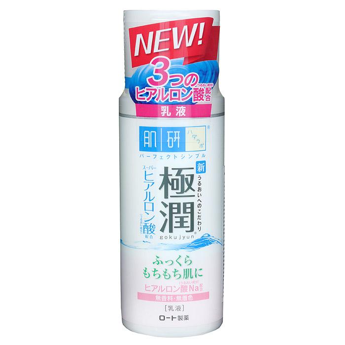 Hada Labo Дневное молочко, 140 мл127054Насыщенное увлажняющее молочко Hada Labo отлично удерживает влагу в коже в дневное время. Быстро впитывается, может использоваться как основа под макияж. Не содержит ароматизаторы, искусственные красители, минеральные масла и спирт. Имеет нейтральный РН-баланс. Увлажняющие компоненты: содержит 3 вида гиалуроновой кислоты. Гиалуроновая кислота 1 грамм способен удержать до 6 литров воды и является барьером препятствующим потере влаги. Супер-гиалуроновая кислота способна удерживать влагу в 2 раза больше чем гиалуроновая кислота. Поддерживает запасы влаги в коже, препятствует появлению сухости и стянутости, сохраняет мягкость и эластичность кожи. Размер молекул Нано-гиалуроновой кислоты настолько мал, что они свободно проникают в более глубокие слои кожи, отлично увлажняя ее изнутри. Способ применения : рекомендуется использовать после увлажняющего лосьона. 2-3 капли молочка нанести на кожу лица и шеи по массажным линиям. Легкий массаж обеспечивает более...