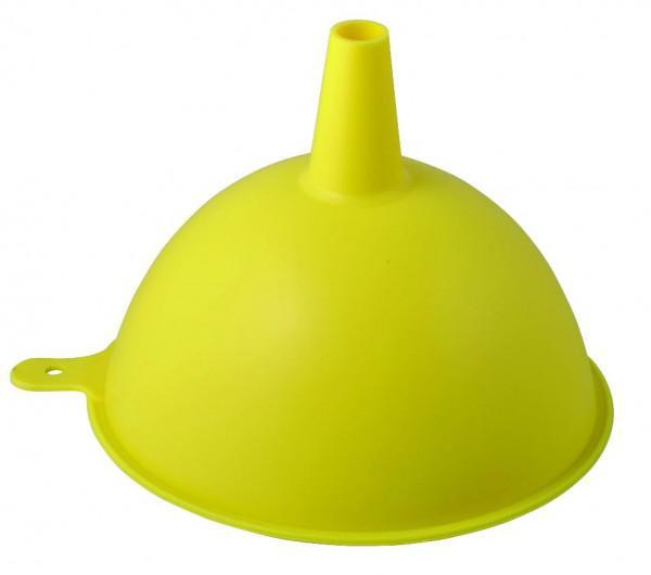 Воронка силиконовая Regent Inox, цвет: желтый, диаметр 15 см93-SI-CU-16.3Воронка Regent Inox, выполненная из силикона желтого цвета, станет незаменимым аксессуаром на вашей кухне. Воронка плотно прилегает к краям наполняемой емкости, и вы не прольете ни капли мимо. Изделие выдерживает высокие и низкие температуры (от -40°С до +230°С). Абсолютно безвредно для человека. Износостойко, легко моется, не впитывает запахи, не оставляет пятен.