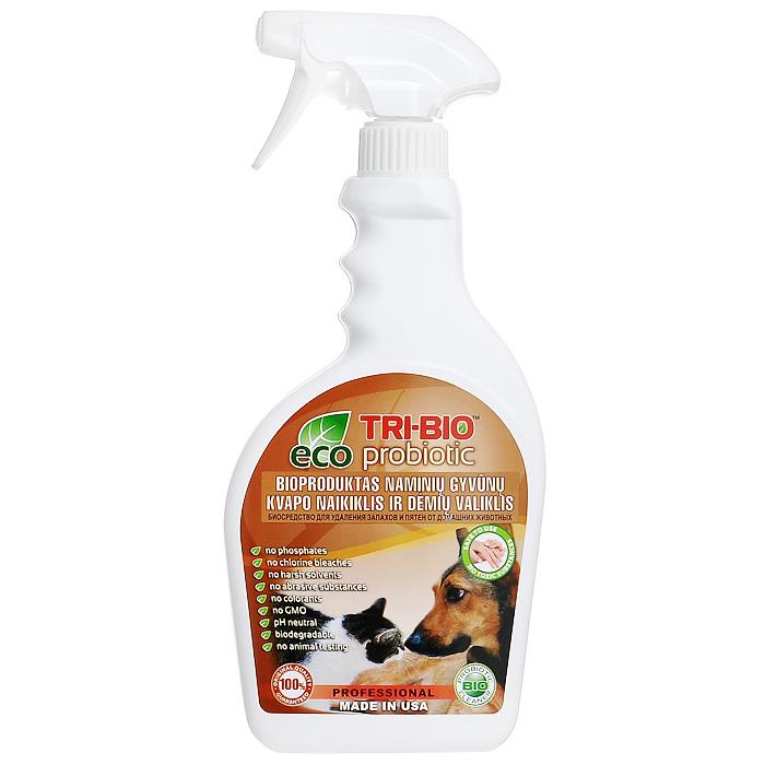 Биосредство Tri-Bio для удаления запахов и пятен от домашних животных, 420 мл0180Биосредство Tri-Bio моментально и полностью уничтожает неприятные запахи и пятна мочи, испражнений и других выделений животных с ковров, мягкой мебели, дерева, ламинита и любой другой поверхности. Ликвидирует неприятные запахи, не маскируя их, a устраняя их причину. Абсолютно безопасно для всех типов поверхностей. В отличие от стандартных химических продуктов, легко проникает в швы, позволяет обеспечить более длительный контроль запаха и более глубокую чистку. Абсолютно безвредно для животных! Особенности биосредства Tri-Bio для здоровья: Без фосфатов, без растворителей, без хлора отбеливающих веществ, без абразивных веществ, без красителей, без токсичных веществ, нейтральный pH. Безопасная альтернатива химическим аналогам. Присвоен сертификат ECO GREEN. Особенности биосредства Tri-Bio для окружающей среды: Низкий уровень ЛОС, легко биоразлагаемо, минимальное влияние на водные организмы, рециклируемые упаковочные материалы, не...