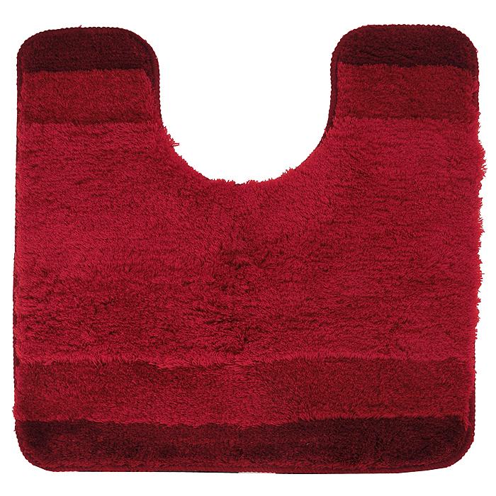 Коврик для ванной комнаты Balance, цвет: красный, 55 х 55 см1009211Коврик для ванной комнаты Balance красного цвета выполнен из высококачественного акрилового волокна, по своим свойствам близкого к шерсти. Износостойкое волокно длительное время сохраняет первоначальный цвет и внешний вид. Прорезиненная основа коврика позволяет использовать его во влажных помещениях, предотвращает скольжение коврика по гладкой поверхности, а также обеспечивает надежную фиксацию ворса. Фабричная обработка кромки коврика увеличивает срок службы изделия и улучшает его внешний вид. Коврик можно стирать в стиральной машине при температуре 40 °C.