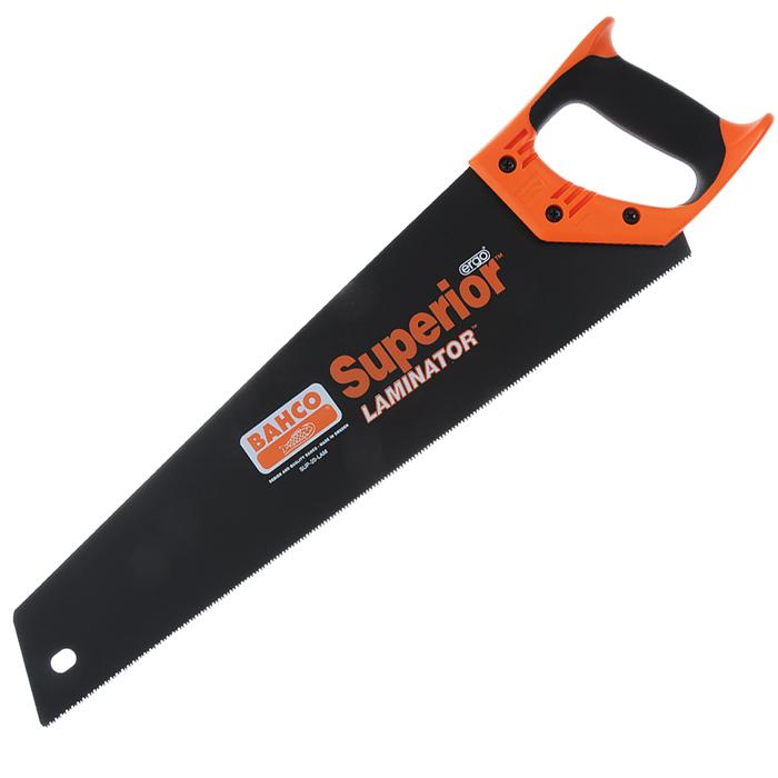 Ножовка по дереву Bahco Laminator, 50 смSUP-20-LAMНожовка по дереву Bahco Laminator используется для пиления напольных покрытий. Покрытие защищает полотно от коррозии. Эргономичная рукоятка обеспечивает комфортную работу с инструментом.