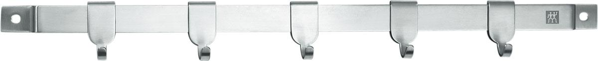 Держатель для кухонных принадлежностей TWIN Cuisine 40 см37470-040Предназначен для удобного хранения кухонных принадлежностей. Состоит из металлической рейки с 5 крючками и крепежа. При изготовлении используется высококачественная нержавеющая сталь, обладающая высокой твердостью. Мыть теплой водой с применением жидкого моющего средства.Использовать по назначению...Адрес изготовителя: 679 Чанг Лин Роад, 201112 Шанхай, Китай (679 Chang Lin Road, 201112 Shanghai, China) Характеристики: Материал: нержавеющая сталь. Артикул: 37470-040.