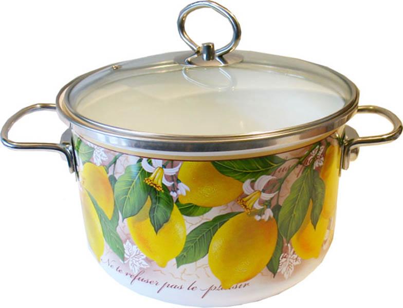Кастрюля эмалированная Vitross Limon с крышкой, цвет: белый, 4 л8SD205SКастрюля Vitross Limon выполнена из нержавеющей стали со стеклокерамическим покрытием - наиболее безопасным видом покрытий посуды. Стеклокерамика инертна и устойчива к пищевым кислотам, не вступает во взаимодействие с продуктами и не искажает их вкусовые качества. Прочный стальной корпус обеспечивает эффективную тепловую обработку и не деформируется в процессе эксплуатации. Такая кастрюля идеальна для тепловой обработки и хранения пищевых продуктов, приготовления холодных блюд и сервировки стола. Внутренняя поверхность изделия - белого цвета. Внешние стенки оформлены красочным изображением лимонов. Кастрюля имеет принципиально новую фурнитуру: ручки из нержавеющей стали имеют особую форму, что увеличивает безопасность при эксплуатации, стеклянная крышка оснащена металлическим ободом и пароотводом. Подходит для всех типов плит, включая индукционные. Пригодна для мытья в посудомоечной машине. Характеристики: Материал: нержавеющая сталь, эмаль, стекло. ...
