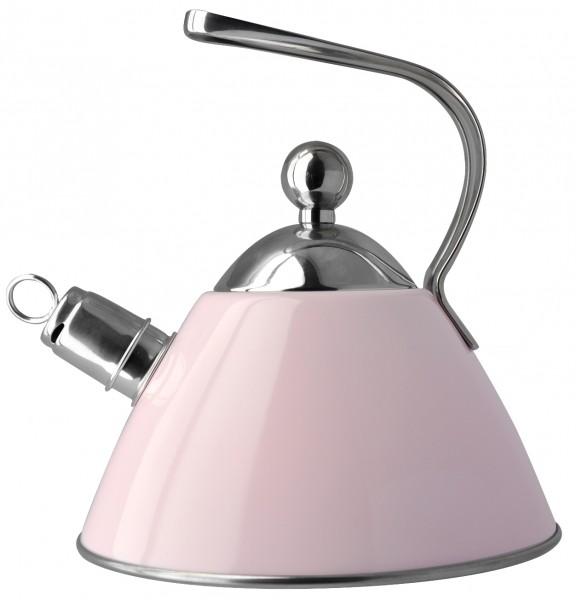 Чайник Regent Inox Tea со свистком, цвет: розовый, 2 л93-TEA-09.2Чайник Regent Inox Tea выполнен из высококачественной нержавеющей стали 18/10 с декоративным эмалевым покрытием розового цвета. Основные особенности: - оптимальное соотношение толщины дна и стенок посуды, что обеспечивает равномерное распределение тепла, экономию энергозатрат и устойчивость к деформации, - сохранение в воде всех полезных свойств и микроэлементов, - многослойное капсулированное дно: аккумулирует тепло, способствует быстрому закипанию и приготовлению пищи даже при небольшой мощности конфорок, - функционален, гигиеничен, эргономичен, а благодаря оригинальному дизайну чайник станет украшением любой кухни. Чайник оснащен крышкой и удобной ручкой. Свисток на носике чайника всегда подскажет, когда вода закипела. Подходит для всех типов плит, включая индукционные. Можно мыть в посудомоечной машине.