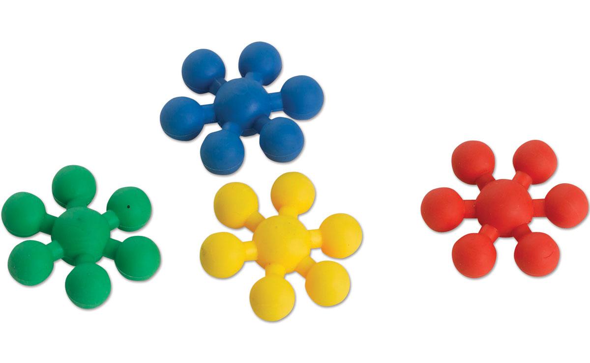 Edushape Мягкий конструктор Звездочки929004Мягкий конструктор Edushape Звездочки включает в себя 80 разноцветных элементов, выполненных из мягкого пластика в виде шестиконечных звездочек. С их помощью ваш малыш сможет создать различные фигуры, руководствуясь фантазией или прилагаемым буклетом с примерами. Элементы легко соединяются и разъединяются, стоит потянуть их в разные стороны. Благодаря мягкому конструктору Edushape Звездочки ребенок сможет развить цветовое восприятие, тактильные ощущения, мелкую моторику рук, воображение и логическое мышление.