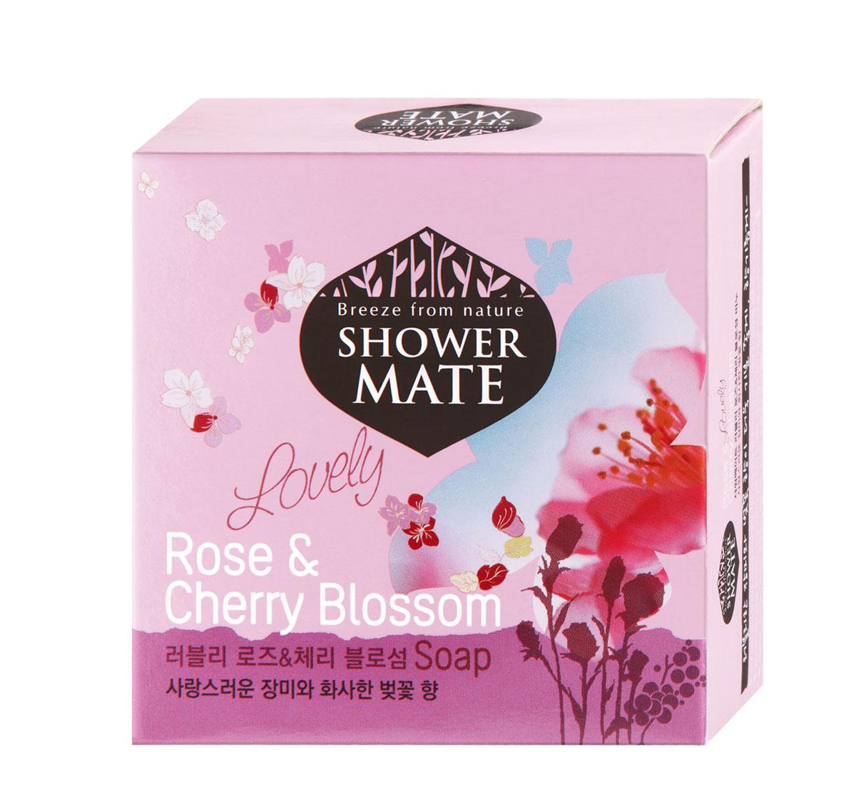 Shower Mate Мыло косметическое Роза и вишневый цвет, 100 г988077Экстракт розы увлажняет и успокаивает кожу. Экстракт вишни делает кожу гладкой и эластичной. Роскошный аромат розы и едва уловимый аромат цветов вишни создают романтичное настроение и ощущение полного блаженства. Характеристики: Вес: 100 г. Артикул: 988077. Производитель: Корея. Товар сертифицирован.