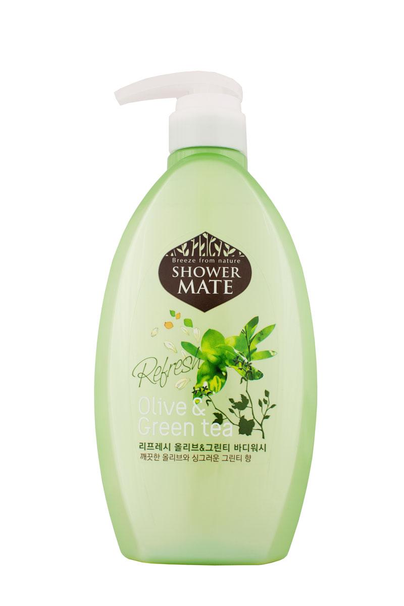 Shower Mate Гель для душа Оливки и зеленый чай, 550 г876756Богатый полезными веществами, экстракт оливы увлажняет и создает защитный слой для кожи. Катехины зеленого чая предотвращают преждевременное старение кожи, способствуют ее омоложению. Свежий аромат оливы и бодрящий аромат зеленого чая дарят ощущение прохлады и чистоты.
