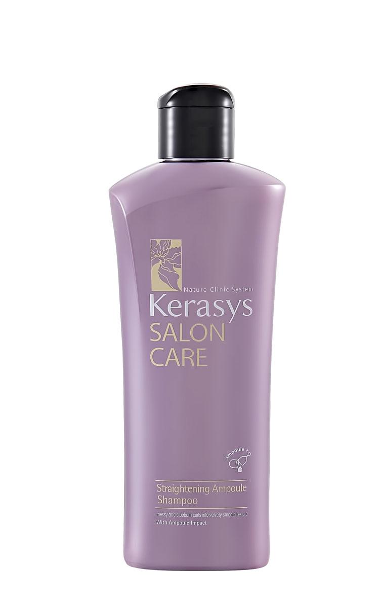 Kerasys Шампунь для волос Salon Care. Выпрямление, 180 мл979334Шампунь для волос Kerasys Salon Care. Выпрямление - профессиональный уход за волосами в домашних условиях. Подходит для непослушных, волнистых, кудрявых, путающихся, тяжело поддающихся укладке и расчесыванию волос. Специально разработанная формула с применением лечебных ампул для непослушных и вьющихся волос. Протеины семян моринги восполняют нехватку собственных белков в структуре волос, делая их плотными по всей длине. Аминокислоты из экстракта сальпиглоссиса разглаживают текстуру волос, придают ослепительный блеск и шелковистость. Натуральный кератин и полифенолы красного вина в составе лечебных ампул предотвращают ломкость волос.