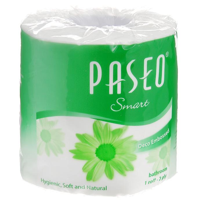 Туалетная бумага Paseo Smart, двухслойная, цвет: белый211733Двухслойная туалетная бумага Paseo Smart, выполненная из натуральной целлюлозы с тиснением, подарит превосходный комфорт и ощущение чистоты и свежести. Необыкновенно мягкая и шелковистая, но в тоже время прочная, бумага не расслаивается и отрывается строго по линии перфорации. Не содержит флуоресцентных добавок, красителей и парфюмерных отдушек.
