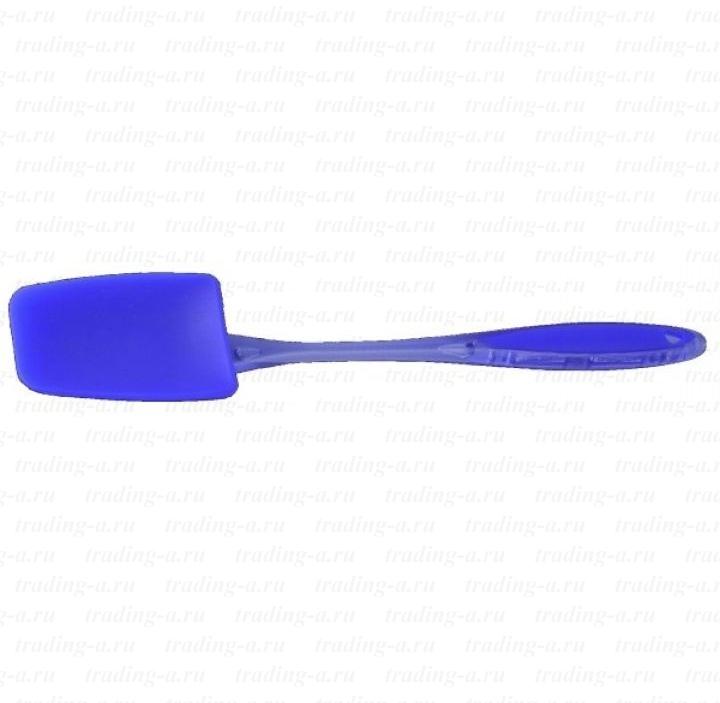 Лопатка кулинарная Regent Inox Silicone, цвет: синий93-SI-CU-07.9Кулинарная лопатка Regent Inox Silicone выполнена из пищевого силикона. Силиконовую лопатку можно использовать на сковородах с любыми видами покрытий. Изделия из силикона выдерживают высокие и низкие температуры (от -40°С до +230°С). Они износостойки, легко моются, не горят и не тлеют, не впитывают запахи, не оставляют пятен. Силикон абсолютно безвреден для здоровья. Кулинарная лопатка Regent Inox Silicone - отличный подарок, необходимый любой хозяйке.