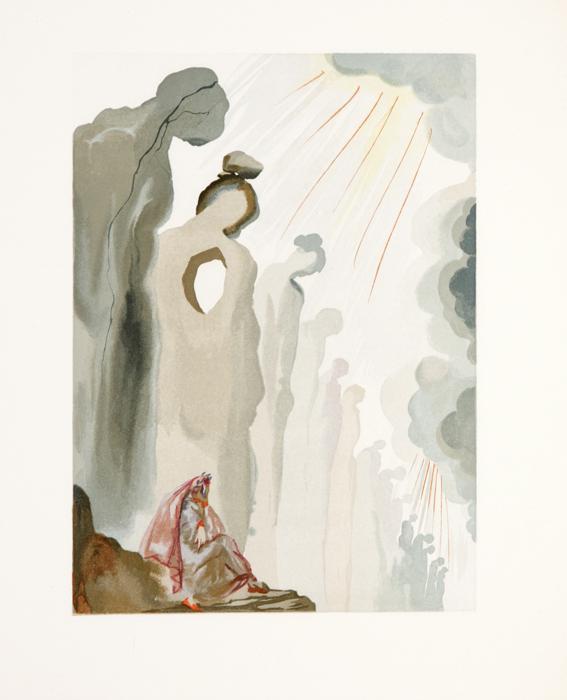 Орест. Сальвадор Дали. Серия Божественная комедия. Цветная гравюра, 1964 годАККААВеликолепная идея для представительского VIP-подарка! Роскошный подарок коллекционеру! Над серией иллюстраций к Божественной комедии Данте Сальвадор Дали работал в течение 1956-1959 гг. Сначала художник нарисовал 100 акварелей (по одной к каждой из 100 песен «Божественной комедии), затем перевел акварели на печатные пластины (общее количество досок составило 3500 штук!) и лично контролировал процесс создания гравюр, проверяя и утверждая каждую из них. Божественная комедия Дали делится на три части, каждая из которых соответствует по смыслу и содержанию трем частям Божественной комедии Данте. Первая часть - Inferno (Ад) - включает 34 листа, вторая и третья части - Purgatorio (Чистилище) и Paradiso (Рай) - по 33 листа. Всего в «Божественной комедии» 100 песен (число 100 — символ совершенства). Иллюстрации Сальвадора Дали к Божественной комедии Данте признаны лучшим среди всего, что сделал Дали в книжной графике....