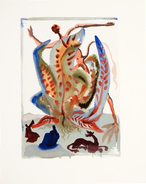 Алчность. Сальвадор Дали. Серия Божественная комедия. Цветная гравюра, 1964 год