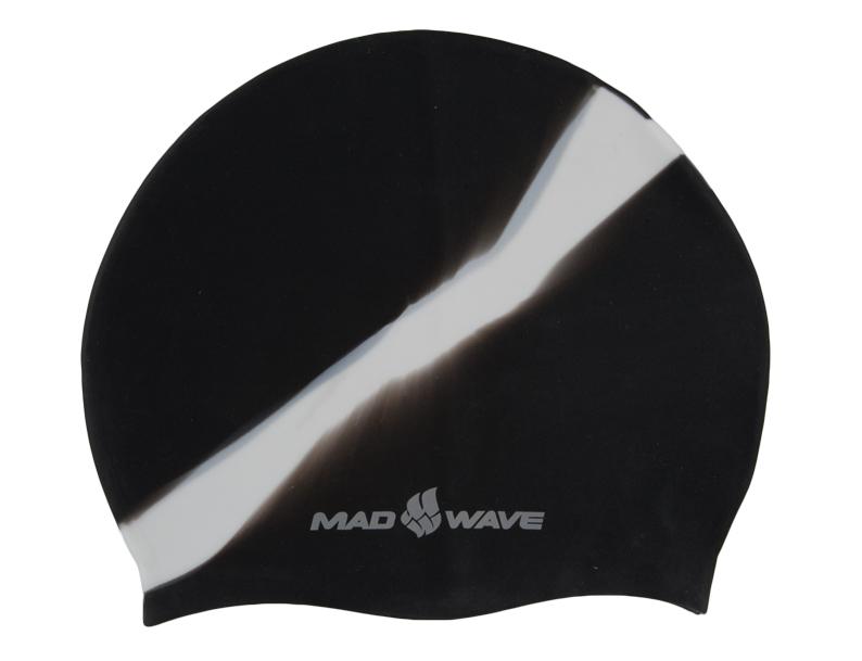 Шапочка для плавания MadWave Multi Big, силиконовая, цвет: черный, белыйM0531 11 2 01WШапочка для плавания MadWave Multi Big классической плоской формы увеличенного размера. Изготовлена из высококачественного силикона устойчивого к воздействию хлорированной воды, что обеспечивает долгий срок использования.