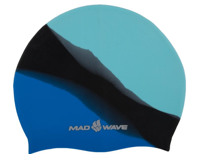 Шапочка для плавания MadWave Multi Big, силиконовая, цвет: бирюзовый, черный, синийM0531 11 2 03WШапочка для плавания MadWave Multi Big классической плоской формы увеличенного размера. Изготовлена из высококачественного силикона устойчивого к воздействию хлорированной воды, что обеспечивает долгий срок использования.