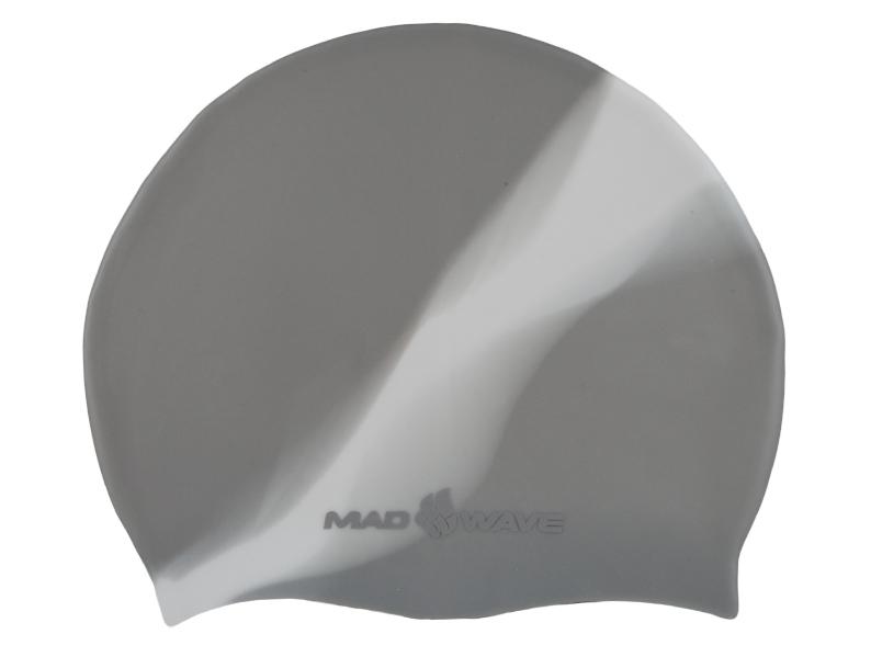 Шапочка для плавания MadWave Multi Big, силиконовая, цвет: серый, белыйM0531 11 2 17WШапочка для плавания MadWave Multi Big классической плоской формы увеличенного размера. Изготовлена из высококачественного силикона устойчивого к воздействию хлорированной воды, что обеспечивает долгий срок использования.