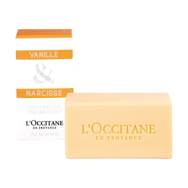 LOccitane en Provence Мыло Ваниль и нарцисс, 125 г258897Мыло LOccitane en Provence Ваниль и нарцисс с кремовой текстурой и пышной пеной нежно очищает кожу и оставляет на ней ненавязчивый чувственный аромат. Применение : нанести на влажную кожу, сполоснуть водой.