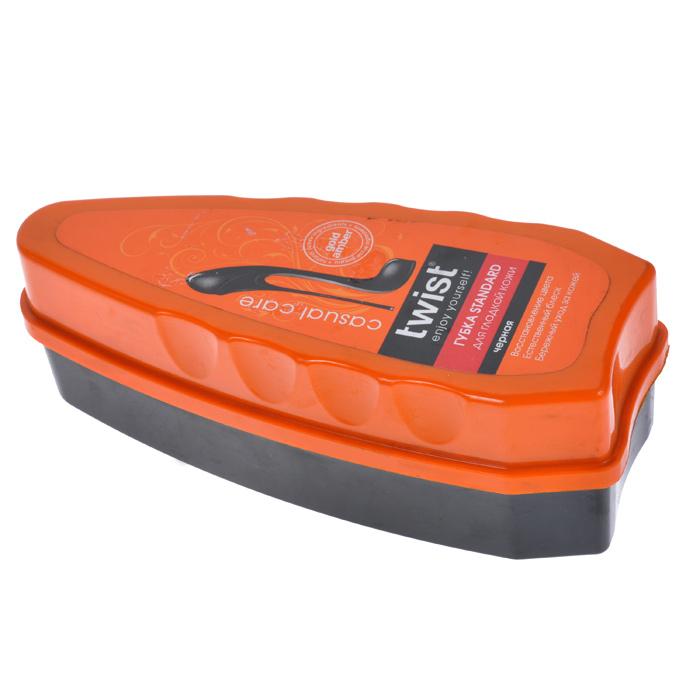 Губка Standard для гладкой кожи Twist Casual, цвет: чернаяTW03-C0056Губка Standard Twist Casual предназначена для чистки и придания блеска обуви из гладкой кожи. Входящие в состав комплекса компоненты золотистого янтаря способствуют активной защите от внешних неблагоприятных факторов, а также восстановлению и смягчению кожи. Характеристики: Материал: пластик, поролон. Размер: 13 см х 5 см х 4,5 см. Артикул: TW03-C0056.