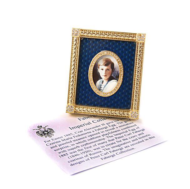Фоторамка. Металл, эмаль гильош, позолота, австрийские кристаллы, House of Faberge, 90-е гг. ХХ века