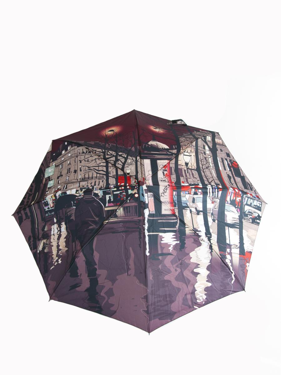 Зонт женский Zest, автомат, 3 сложения. 23785-868 - Zest23785-868Женский автоматический зонт Zest в 3 сложения даже в ненастную погоду позволит вам оставаться стильной и элегантной. Каркас зонта состоит из 8 спиц из фибергласса и прочного алюминиевого стержня. Специальная система Windproof защищает его от поломок во время сильных порывов ветра. Купол зонта выполнен из прочного полиэстера с водоотталкивающей пропиткой и оформлен красочным изображением. Используемые высококачественные красители, а также покрытие Teflon обеспечивают длительное сохранение свойств ткани купола. Рукоятка, разработанная с учетом требований эргономики, выполнена из приятного на ощупь прорезиненного пластика бордового цвета. Зонт имеет полный автоматический механизм сложения: купол открывается и закрывается нажатием кнопки на рукоятке, стержень складывается вручную до характерного щелчка, благодаря чему открыть и закрыть зонт можно одной рукой, что чрезвычайно удобно при входе в транспорт или помещение. На рукоятке для удобства есть небольшой шнурок,...