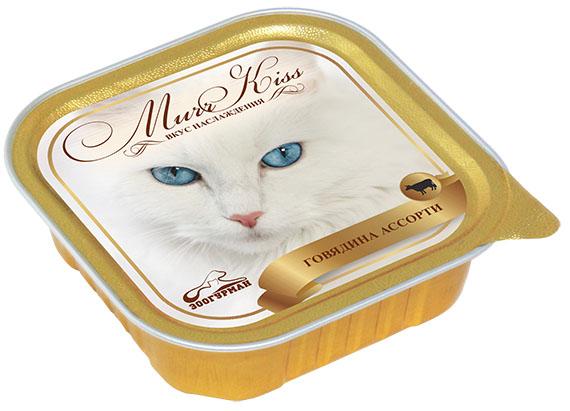 """Консервы для кошек Зоогурман """"Murr Kiss"""", с говядиной ассорти, 100 г 8764"""