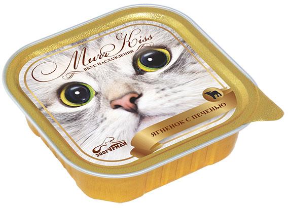 """Консервы для кошек Зоогурман """"Murr Kiss"""", с ягненком и печенью, 100 г 8795"""