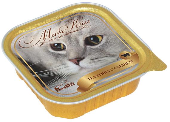 """Консервы для кошек Зоогурман """"Murr Kiss"""", с телятиной и сердцем, 100 г 8788"""