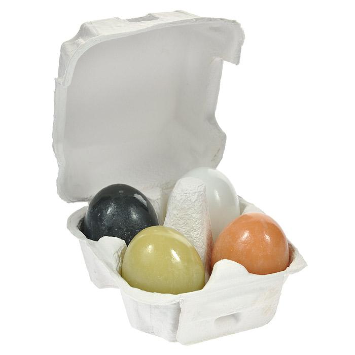 """Holika Holika Набор мыла """"Egg"""": уголь, глина, чай, белок яйца, для очистки и сужения пор, 50 г, 4 шт"""