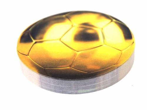 """Стикер """"Футбольный мяч"""", цвет: золотистый. 002513"""