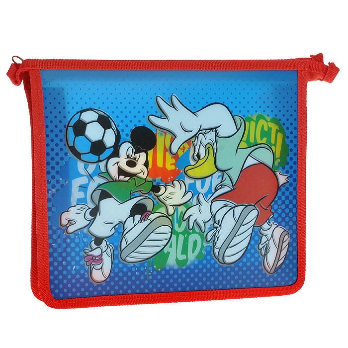"""Папка для тетрадей """"Mickey. Футбол"""", цвет: синий, красный"""