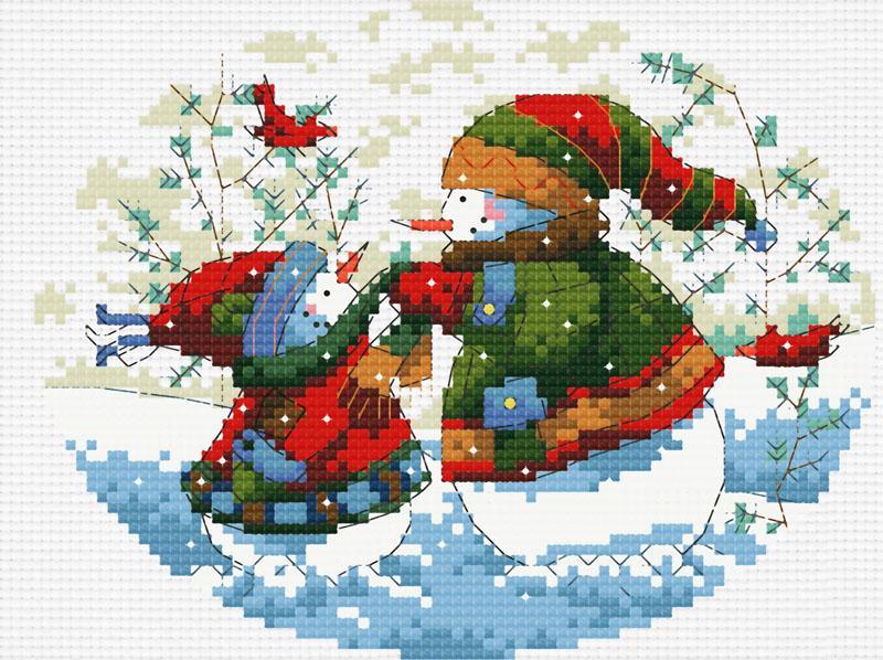 Набор для вышивания крестом Теплая забота, 25 х 21 см662-14В наборе для вышивания крестом Теплая забота есть все необходимое для создания роскошной интерьерной картины: обработанная канва Аида 14 белого цвета, хлопковые мулине, цветная символьная схема, 2 иглы, инструкция по вышиванию на русском языке. Необычайной красоты рисунок-вышивка с изображением двух снеговиков привлечет к себе внимание и будет потрясающе смотреться в интерьере вашего помещения, особенно в интерьере детской комнаты. Вышивание крестом отвлечет вас от повседневных забот и превратится в увлекательное занятие! Работа, сделанная своими руками, создаст особый уют и атмосферу в доме, и долгие годы будет радовать вас и ваших близких.