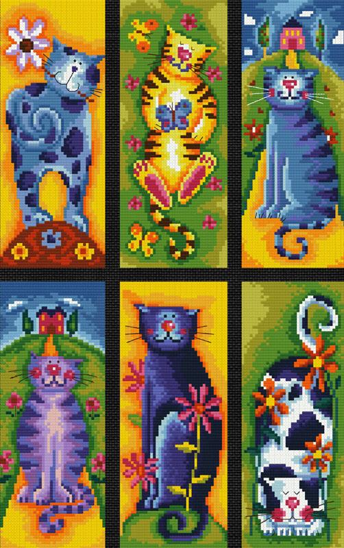 Набор для вышивания крестом Коллекция кошек, 37 х 48 см922-14В наборе для вышивания крестом Коллекция кошек есть все необходимое для создания роскошной интерьерной картины: обработанная канва Аида 14 черного цвета, хлопковые мулине, цветная символьная схема, 2 иглы, инструкция по вышиванию на русском языке. Необычайной красоты рисунок-вышивка с изображением забавных кошек привлечет к себе внимание и будет потрясающе смотреться в интерьере вашего помещения, особенно в интерьере детской комнаты. Вышивание крестом отвлечет вас от повседневных забот и превратится в увлекательное занятие! Работа, сделанная своими руками, создаст особый уют и атмосферу в доме, и долгие годы будет радовать вас и ваших близких.