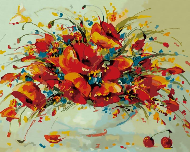 Живопись на холсте Весенний вальс, 40 х 50 см832-ABЖивопись на холсте Весенний вальс - это набор для раскрашивания по номерам акриловыми красками на холсте. В набор входят: - холст на подрамнике с нанесенным рисунком, - пробный лист с нанесенным рисунком, - набор акриловых красок, - 3 кисти, - настенное крепление для готовой картины. Каждая краска имеет свой номер, соответствующий номеру на картинке. Нужно только аккуратно нанести необходимую краску на отмеченный для нее участок. Таким образом, шаг за шагом у вас получится великолепная картина. С помощью серии наборов Живопись на холсте вы можете стать настоящим художником и создателем прекрасных картин. Вы получите истинное удовольствие от погружения в процесс творчества и созданные своими руками картины украсят интерьер вашего дома или станут прекрасным подарком. Техника раскрашивания на холсте по номерам дает возможность легко рисовать даже сложные сюжеты. Прекрасно развивает художественный вкус, аккуратность и внимание....