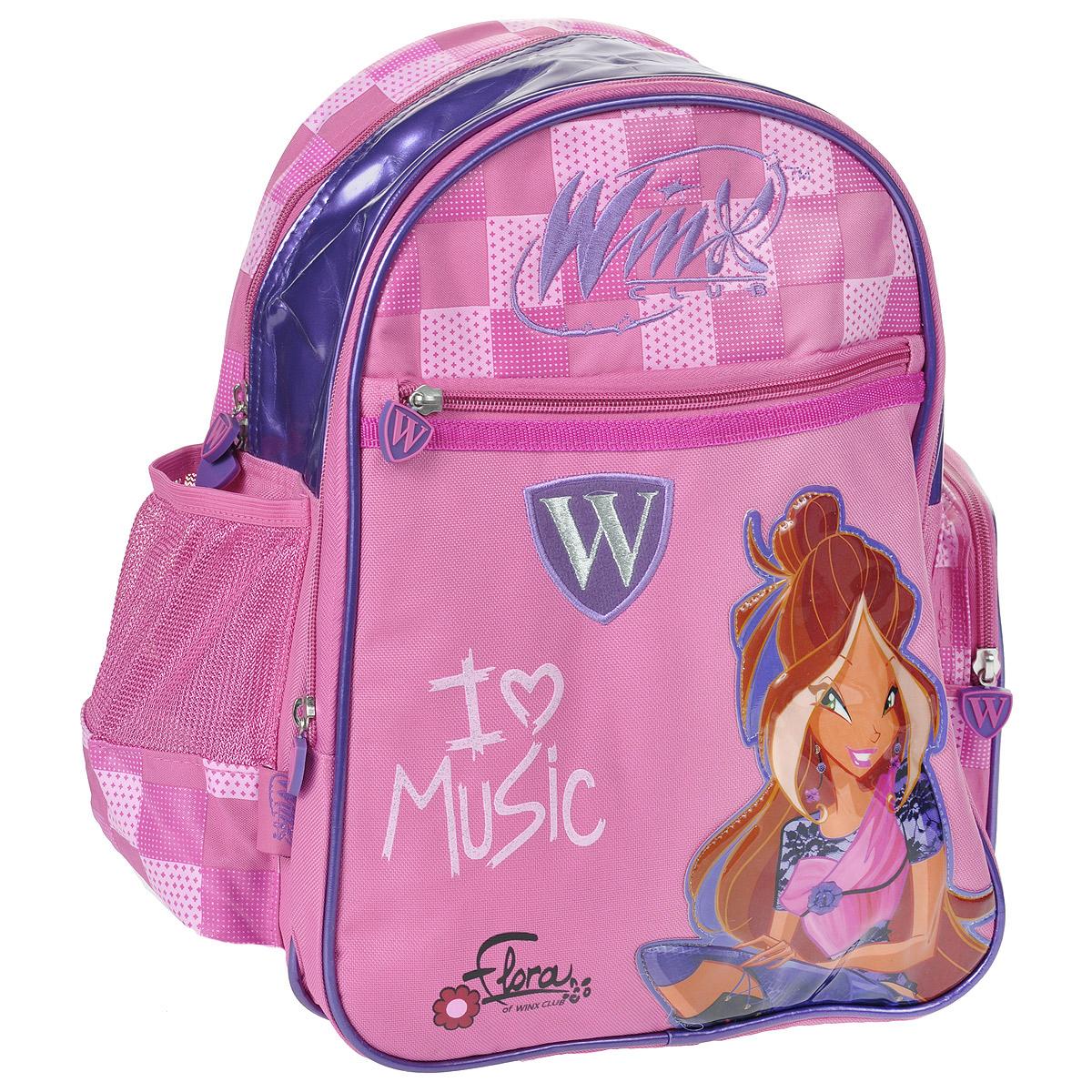 """Рюкзак школьный Winx Club """"Magical Concert Purple"""", №1, цвет: розовый, сиреневый. 20537"""