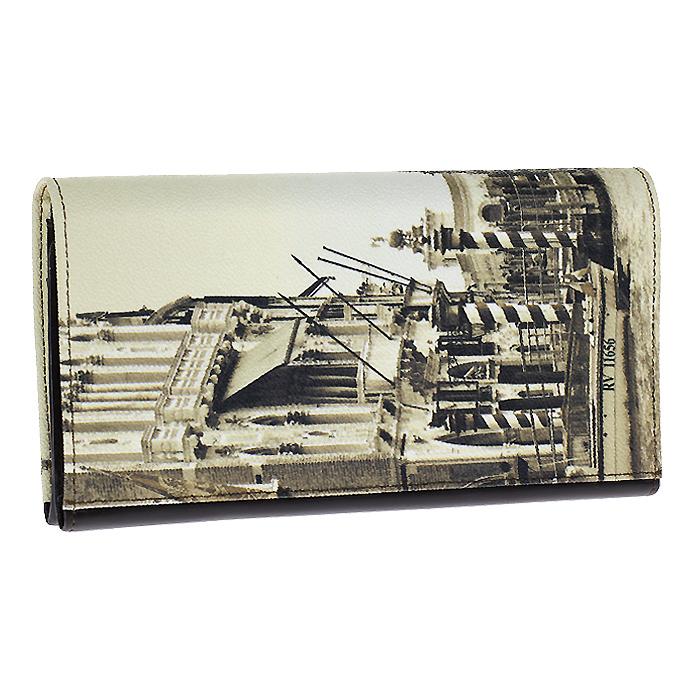 Портмоне женское Venice, цвет: бежевый. PJ.73PJ.73.Venice (sepia)Стильное женское портмоне Venice выполнено из натуральной кожи и оформлена фотопринтом в стиле сепия с изображением Венеции. Портмоне вмещает в себя купюры в полную длину, закрывается широким клапаном на магнитную кнопку. Внутри имеется два отделения для купюр, потайной карман, карман для мелочи на молнии и восемь карманов для кредитных карт. На клапане расположено складное отделение на кнопке, которое имеет четыре потайных кармана, шесть карманов для кредитных карт и два кармана-окна с галантерейной сеткой. Коллекция Voyage - коллекция элегантных аксессуаров из неоднородной матовой кожи. Четкий прорисованный узор создает объемную контрастную фактуру. Характеристики: Материал портмоне: натуральная кожа, текстиль, пластик, металл. Цвет: бежевый. Размер: 21,5 см x 11,5 см x 3,5 см. Артикул: PJ.73.