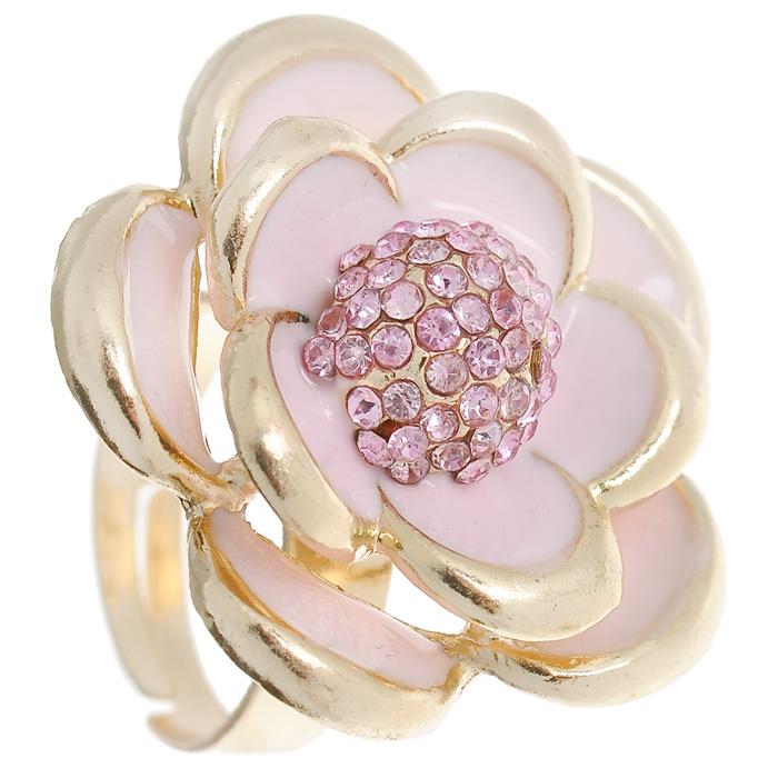 Кольцо Marmalato, цвет: золотистый, розовый. 399-392399-392_42494Оригинальное кольцо Marmalato, выполненное из металла золотистого цвета, украшено цветком со стразами. Кольцо позволит вам с легкостью воплотить самую смелую фантазию и создать собственный, неповторимый образ. Характеристики: Материал: металл, стразы. Цвет: золотистый, розовый. Размер декоративного элемента: 2,8 см. Минимальный диаметр кольца: 1,7 см. Размер кольца: универсальный. Артикул: 399-392. Рекомендации по использованию: Для того, чтобы бижутерия прослужила долго и не потеряла своего вида, важно соблюдать несложные рекомендации. Желательно, чтобы украшения не находились долгое время в воде. Также не рекомендуется заниматься в украшениях спортом, украшения могут повредиться механически таким образом. Не рекомендуется надевать металлсодержащую бижутерию в солярий и на пляж, долго находиться в ней под открытым солнцем - если, конечно, это не специальная пляжная коллекция украшений. Поскольку есть риск перегрева металла, что...