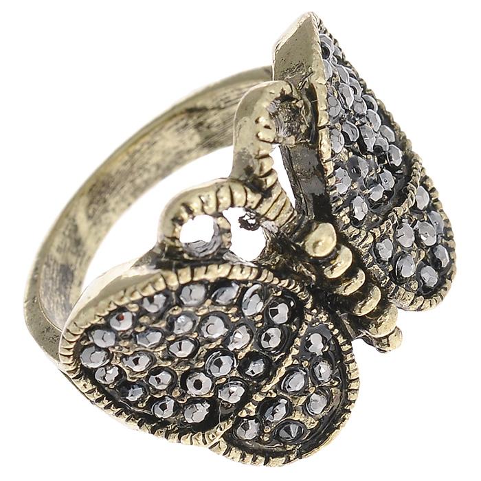 Кольцо Marmalato, цвет: бронзовый, серый. 399-393399-393_45495Оригинальное кольцо Marmalato, выполненное из металла бронзового цвета в виде бабочки, украшено стразами. Кольцо позволит вам с легкостью воплотить самую смелую фантазию и создать собственный, неповторимый образ. Характеристики: Материал: металл, стразы. Цвет: бронзовый, серый. Размер кольца: 17 мм. Артикул: 399-393. Рекомендации по использованию: Для того, чтобы бижутерия прослужила долго и не потеряла своего вида, важно соблюдать несложные рекомендации. Желательно, чтобы украшения не находились долгое время в воде. Также не рекомендуется заниматься в украшениях спортом, украшения могут повредиться механически таким образом. Не рекомендуется надевать металлсодержащую бижутерию в солярий и на пляж, долго находиться в ней под открытым солнцем - если, конечно, это не специальная пляжная коллекция украшений. Поскольку есть риск перегрева металла, что может привести к ожогу. Рекомендации по уходу: Для того, чтобы бижутерия сохраняла свой...
