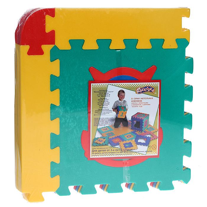 Коврик-пазл Ассорти, 4 элемента45432Мягкий коврик-пазл Ассорти, несомненно, заинтересует вашего малыша. Пазл складывается из четырех плиток основных цветов (синего, желтого, красного и зеленого) со съемными кромками и уголками. В каждый элемент встроена сборная мозаика (будильник, паровозик и др). Сначала малыш сможет собрать мозаику, потом найти место получившейся фигурки на одной из плиток, затем из них собрать дорожку или коврик. Игры с ковриком-мозаикой Ассорти способствуют развитию у малышей мелкой моторики рук, тактильных ощущений, фантазии, способности анализировать и сопоставлять детали, знакомят их понятиями формы, размера и цвета предмета. Коврик-мозаика выполнен из экологически безопасного полимерного материала, обладающего большой плотностью, высоким сопротивлением нагрузкам на разрыв и сгиб, теплоизоляционными качествами и способностью сохранять форму и гибкость при охлаждении. Это обеспечивает комфорт и удобство в использовании в виде напольного покрытия в детской и ванной комнате, в...