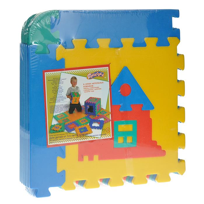 Коврик-пазл Ассорти, 6 элементов45431Мягкий коврик-пазл Ассорти, несомненно, заинтересует вашего малыша. Пазл складывается из шести плиток основных цветов (синего, желтого, красного и зеленого) со съемными кромками и уголками. В каждый элемент встроена сборная мозаика (цветок, домик, собачка, птичка и др). Игры с ковриком-мозаикой Ассорти способствуют развитию у малышей мелкой моторики рук, тактильных ощущений, фантазии, способности анализировать и сопоставлять детали, знакомят их понятиями формы, размера и цвета предмета. Коврик-мозаика выполнен из экологически безопасного полимерного материала, обладающего большой плотностью, высоким сопротивлением нагрузкам на разрыв и сгиб, теплоизоляционными качествами и способностью сохранять форму и гибкость при охлаждении. Это обеспечивает комфорт и удобство в использовании в виде напольного покрытия в детской и ванной комнате, в спортивном зале.