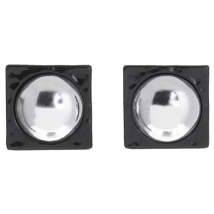 Серьги Marmalato, цвет: серебристый, черный. 629-037_44003629-037_44003Оригинальные серьги Marmalato, выполненные из металла, помогут создать вам свой неповторимый стиль. Замок-гвоздик обеспечивает надежное удержание серьги.