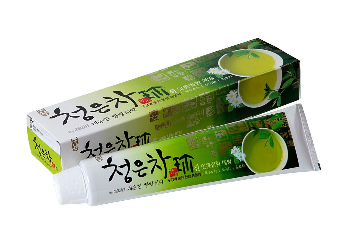 Зубная паста 2080 Восточный чай, 130 г979280Зубная паста 2080 Восточный чай со вкусом мяты и лечебных трав удаляет зубной налет, освежает дыхание, отбеливает, защищает от кариеса. Предупреждает заболевание десен.