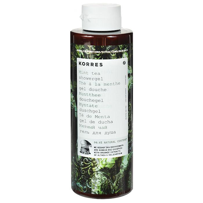 Korres Гель для душа Мятный чай, 250 мл5203069043192Гель для душа Korres Мятный чай - юный, яркий и светлый, аромат освежающих пузырьков. Гель для душа, превращающийся в кремовую пену, с потрясающим длительным увлажняющим эффектом. Протеины пшеницы образуют защитную пленку на коже, тем самым поддерживая уровень увлажненности кожи. Активный алоэ, богатый витаминами C и E, цинк и антиоксидантные энзимы, укрепляют иммунную систему кожи. Благодаря стимулированию синтеза коллагена и эластина, активный алоэ устраняет видимые признаки преждевременного старения.