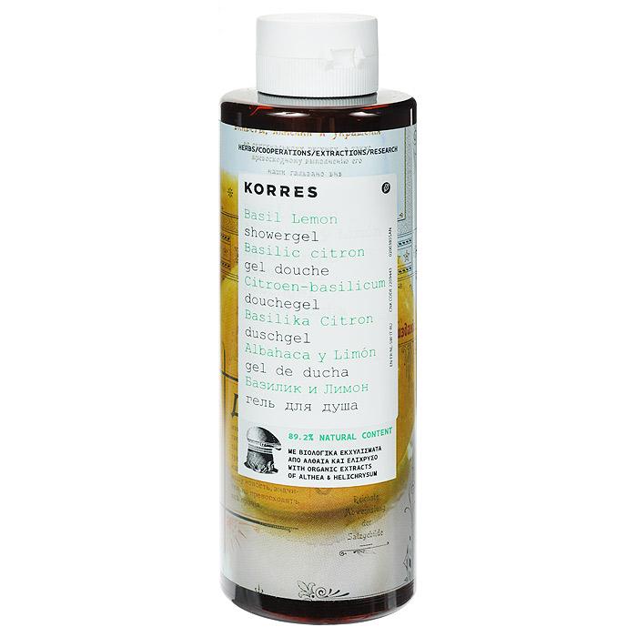 Korres Гель для душа Базилик и лимон, 250 мл5203069043246Гель для душа Korres Базилик и лимон бодрящий, очищающий и освежающий. Гель для душа, превращающийся в кремовую пену, с потрясающим длительным увлажняющим эффектом. Протеины пшеницы образуют защитную пленку на коже, тем самым поддерживая уровень увлажненности кожи. Активный алоэ, богатый витаминами C и E, цинк и антиоксидантные энзимы, укрепляют иммунную систему кожи. Благодаря стимулированию синтеза коллагена и эластина, активный алоэ устраняет видимые признаки преждевременного старения.