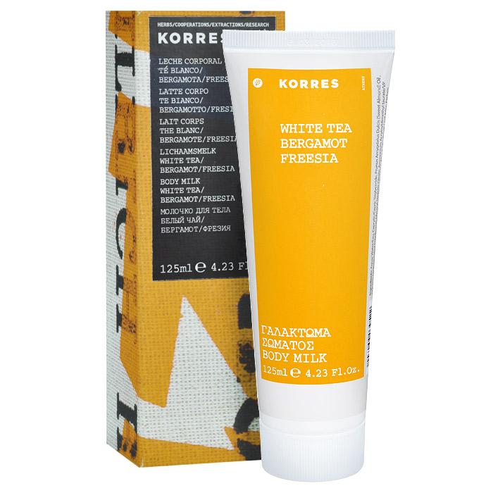Korres Молочко для тела Белый чай, 125 мл5203069039522Молочко для тела Korres Белый чай с длительным увлажняющим эффектом и пудровой текстурой, которая прекрасно матирует кожу тела. Через три часа после нанесения уровень увлажненности кожи такой же, как и в момент нанесения (максимальный уровень увлажнения). Активный алоэ поддерживает иммунитет кожи и предупреждает ее старение. Легко впитывается, даря коже бархатистость. Белый чай, привилегия, доступная только аристократам Древнего Китая, является самой изысканной разновидностью чая. Аромат белого чая чувственный, пьянящий и обладает свежим и деликатным шлейфом.