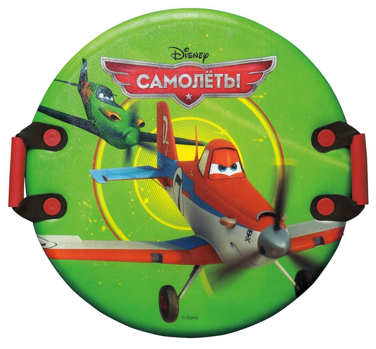 Ледянка Самолеты, цвет: зеленый, диаметр 60 смТ56367Ледянка Самолеты с красочным дизайном героев популярного мультфильма Самолеты от Disney. Несмотря на то, что ледянка очень легкая и прочная, на ней можно кататься практически с любых горок. Изготовлена из прочного структурированного пластика. Удобные плотные ручки позволят не упасть при спуске с крутых горок. Яркий рисунок будет долго держаться даже при интенсивном катании.