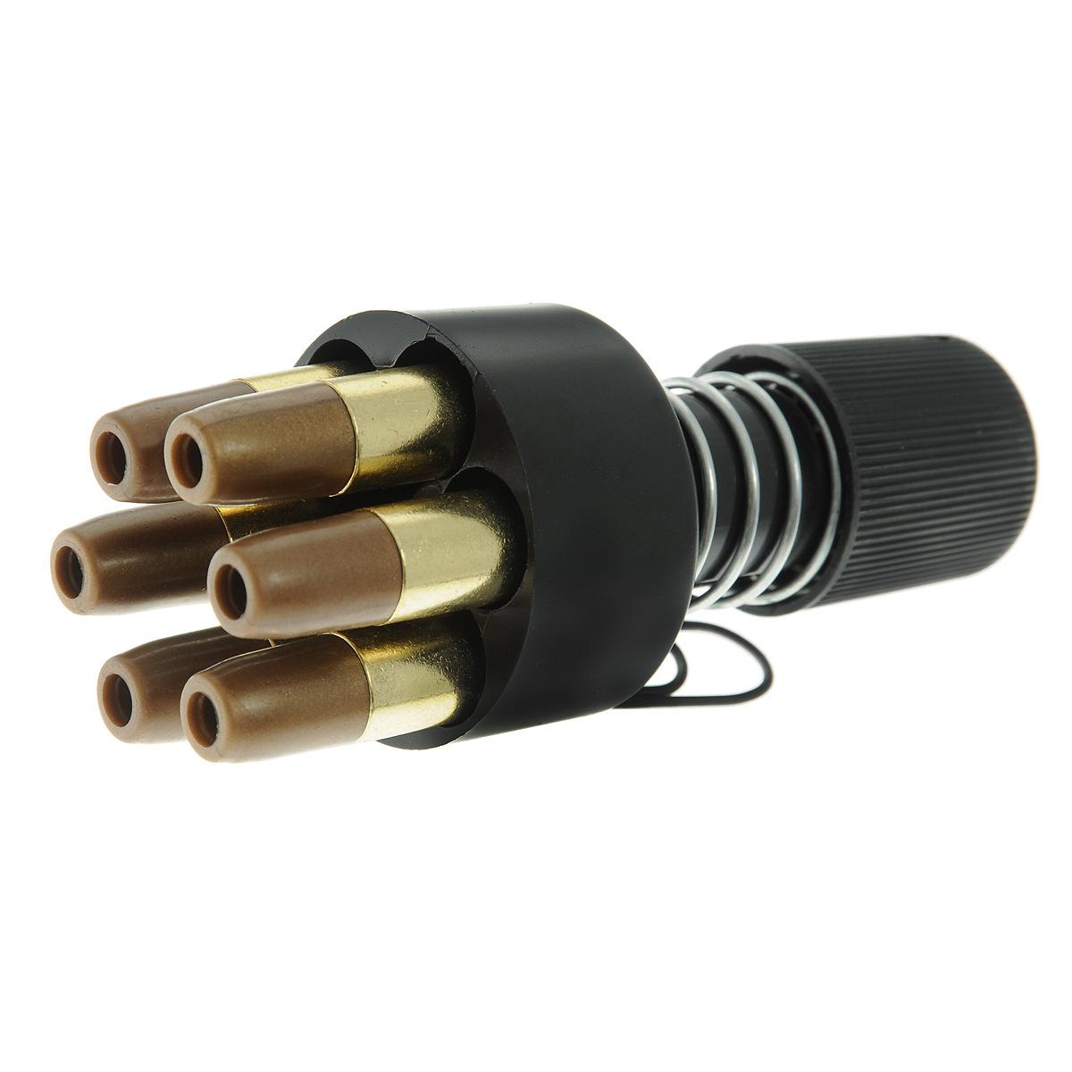 ASG Dan Wesson 4,5мм ускоритель заряжания (16187)16187Ускоритель заряжания в комплекте с шестью фальш-патронами для пневматических револьверов ASG Dan Wesson калибра 4,5 мм. Уважаемые покупатели, обращаем Ваше внимание, что авиадоставка в нижеперечисленные города этого товара временно недоступна! 1. Ангарск 2. Благовещенск 3. Бодайбо 4. Братск 5. Владивосток 6. Воркута 7. Иркутск 8. Калининград 9. Надым 10. Нарьян-Мар 11. Находка 12. Норильск 13. Петропавловск-Камчатский 14. Салехард 15. Улан-Удэ 16. Уссурийск 17. Ухта 18. Хабаровск 19. Чита 20. Энергетик 21. Южно-Сахалинск 22. Якутск Возврат товара возможен только при наличии заключения сервисного центра. Время работы сервисного центра: Пн-чт: 10.00-18.00 Пт: 10.00- 17.00 Сб, Вс: выходные дни Адрес: ООО ГАТО, 121471, г.Москва, ул. Петра Алексеева, д 12., тел. (495)232-4670, gato@gato.ru